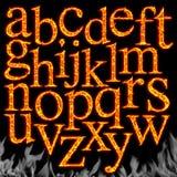 Set brennende Zeichen getrennt vektor abbildung