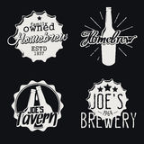 Set of brewery labels. Homebrew badges, icons and design templates. Vector Royalty Free Stock Image