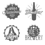 Set of brewery labels. Homebrew badges, icons and design templates. Vector Stock Photos