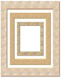 Set of plaster frames Royalty Free Stock Images
