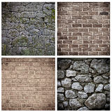 Set of brick wall Royalty Free Stock Photography