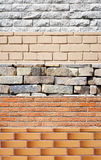 Set of brick wall banners Royalty Free Stock Images