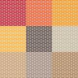 Set of brick wall Royalty Free Stock Photography