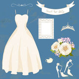 Set of bride accessories. Royalty Free Stock Photography