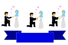Set Bride Couple Muslim and Muslimah Islam People