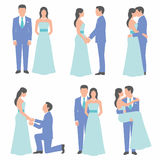 Set of bride and groom Stock Photography