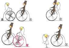 Set of bride and groom vector Stock Images