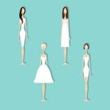 Set of brides Stock Image