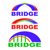 Set of Bridge Icons . Bridge Logo. Stock Image