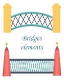 Set of bridge icons Royalty Free Stock Images