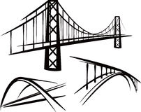 Set of bridges Stock Images