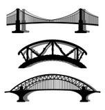 Set of bridges Royalty Free Stock Image