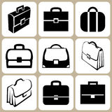 Set of briefcases Stock Photo