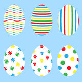 Set of the bright еaster eggs Stock Photos