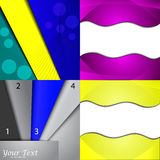 Set of bright abstract backgrounds. Design eps 10. Vector illustration Stock Images