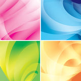 Set - bright abstract backgrounds - vector Stock Photos