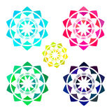 Set of Bright Abstract Circles. Frames Design Elements Stock Image