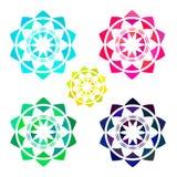 Set of Bright Abstract Circles Stock Image