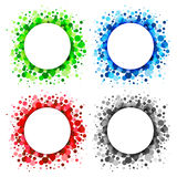 Set of  Bright Abstract Circles Frames. Design Elements, vector illustration Royalty Free Stock Photo
