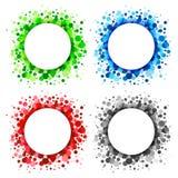 Set of  Bright Abstract Circles Frames Royalty Free Stock Photo