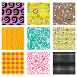 Set of bright abstract patterns Royalty Free Stock Photo