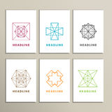 Set bright abstract shapes on a white background Royalty Free Stock Photography