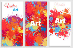 A set of bright abstract splashes banners Royalty Free Stock Photography