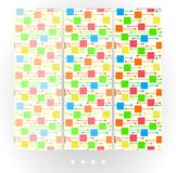 Set of bright abstract vector seamless patterns. royalty free illustration