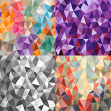 Set of bright backgrounds of triangles of different sizes Royalty Free Stock Image