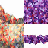 Set of bright backgrounds of triangles Stock Photos