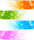 Set of bright banners Stock Photography