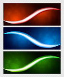 Set of bright banners Stock Images