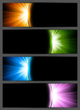 Set of bright banners Royalty Free Stock Photos
