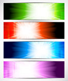 Set of bright banners Royalty Free Stock Images