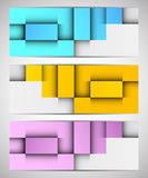 Set of bright banners Stock Image