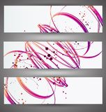 Set of bright banners. Royalty Free Stock Photo