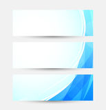 Set of bright blue banners Stock Image