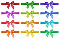 Set of bright bows Stock Photo