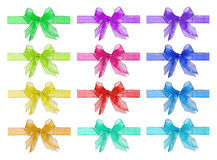Set of bright bows Stock Images