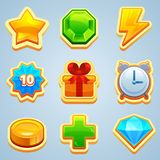 Set of bright buttons. For game or web design. Vector Stock Photo
