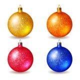 Set of bright Christmas balls Royalty Free Stock Image