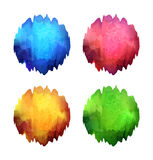 Set of bright color blots Royalty Free Stock Photos