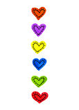 Set of bright color hearts Stock Photo