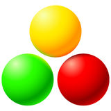 Set of bright colored balls Royalty Free Stock Photography