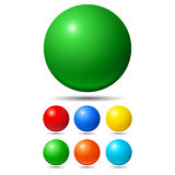 Set of bright colored balls Royalty Free Stock Image