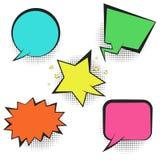 Set of bright colorful retro comic speech bubbles Royalty Free Stock Photo