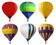 Set of bright colorful hot air balloons royalty free stock images