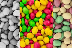 Set bright colorful mini candy glazed yellow pink green yellow vertical panel gradient design toned monochrome stock image