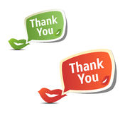 Set of bright colorful stickers Thank You Stock Photography