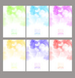 Set of bright colorful watercolor background Royalty Free Stock Image